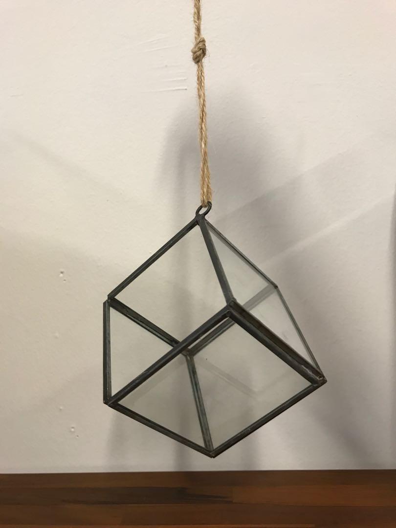 Clearance Hanging Geometric Glass Terrarium Gardening Pots