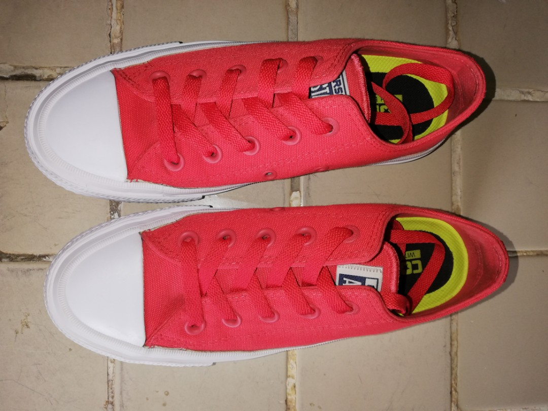 Converse chuck taylor all star ii neon orange women fashion shoes on  carousell jpg 1080x810 Neon 8fdddd6d0