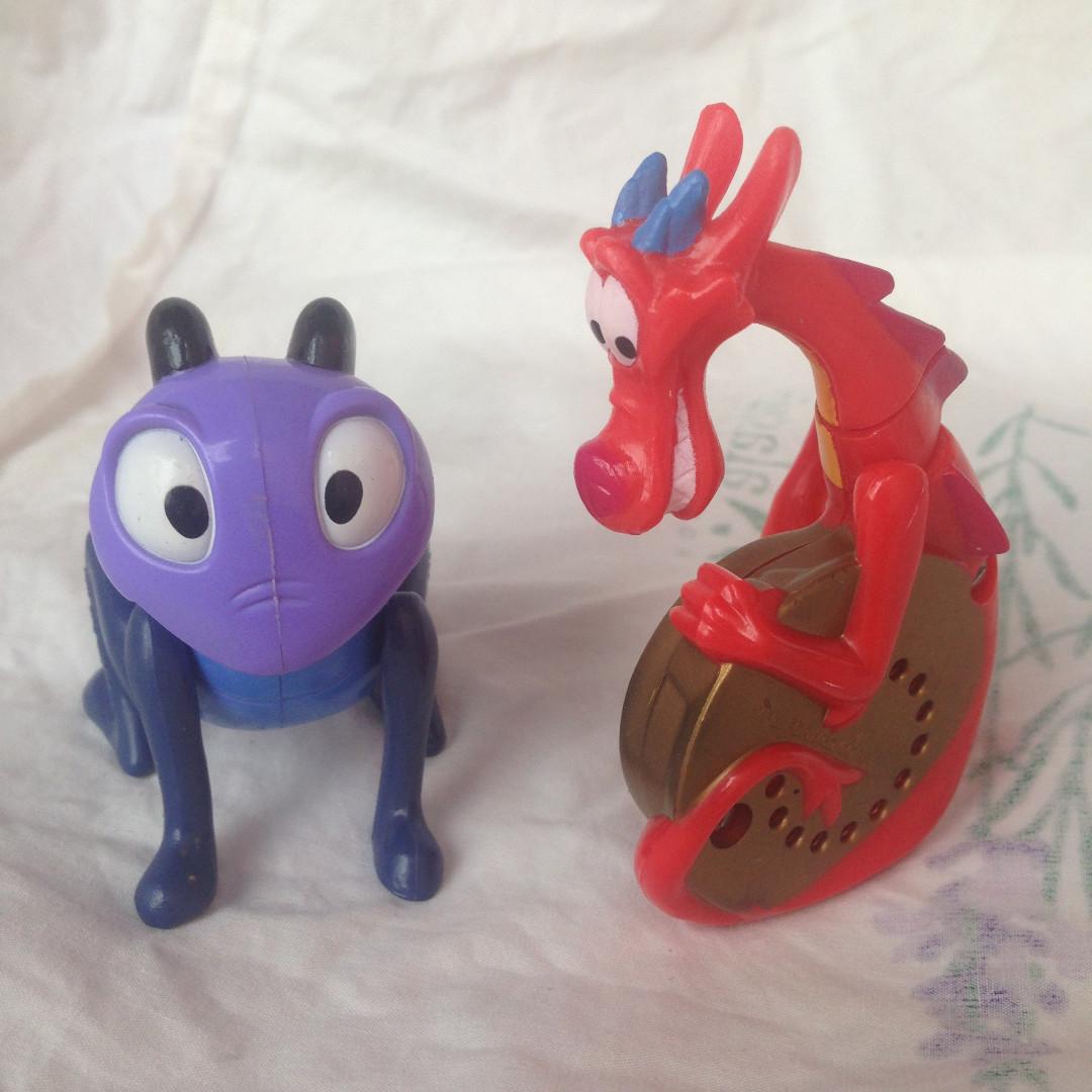 Figur Dari Seri Mulan Disney Happy Meal Mc Donald Toys Voucher 200k Collectibles Mainan Di Carousell