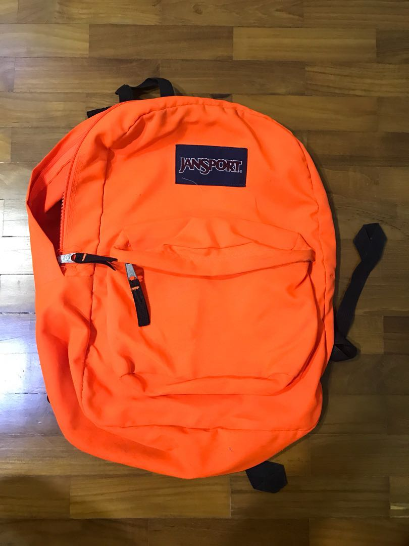 outlet store d7f71 3cb72 Jansport Backpack Neon Orange, Men s Fashion, Bags   Wallets, Backpacks on  Carousell