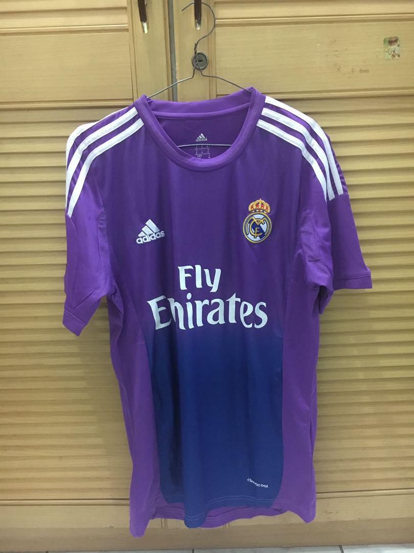 buy popular 360b7 483ab Jersey Real Madrid Purple, Men's Fashion, Men's Clothes on ...