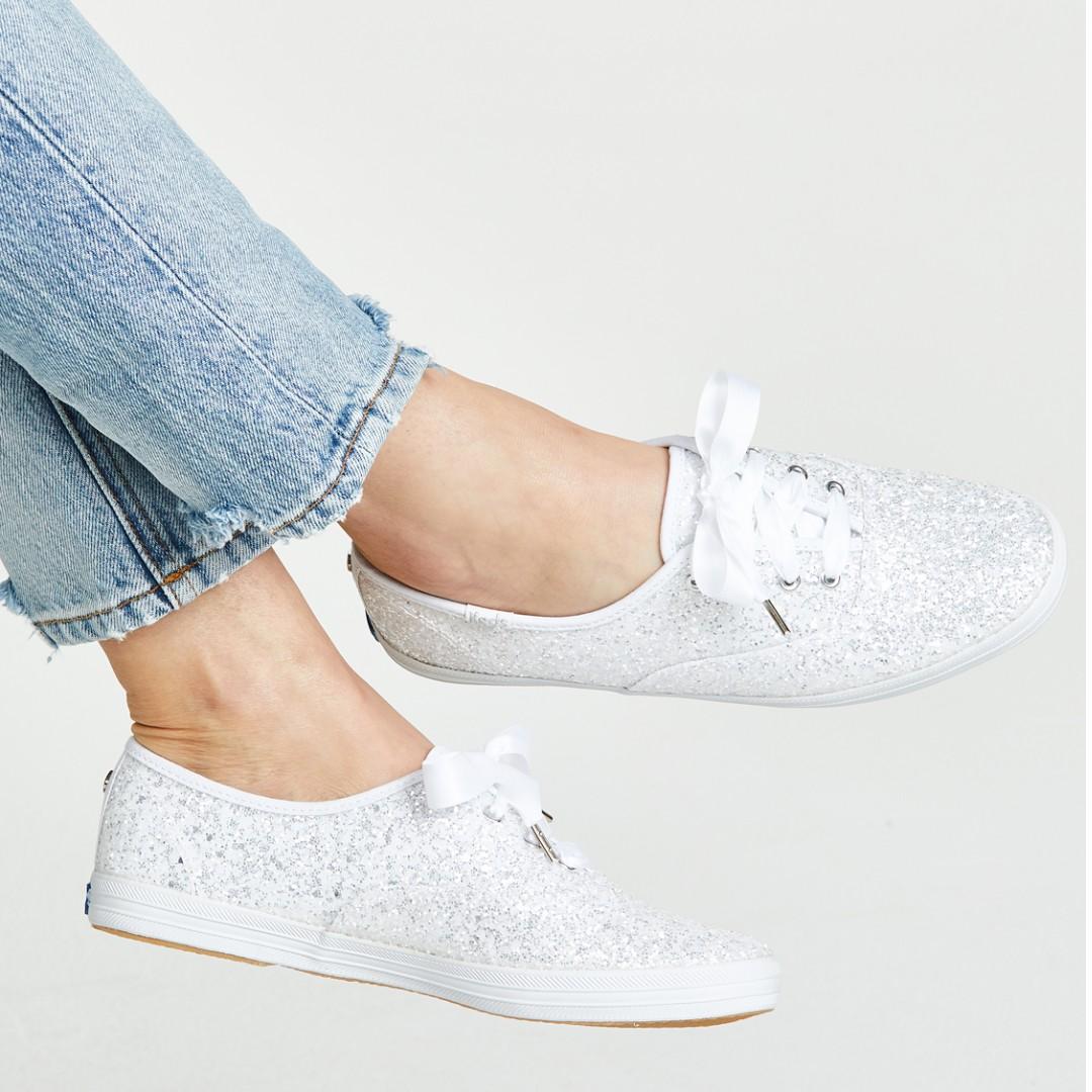 8ca4fca09681f Keds X Kate spade champion sneaker (white Sparkling)