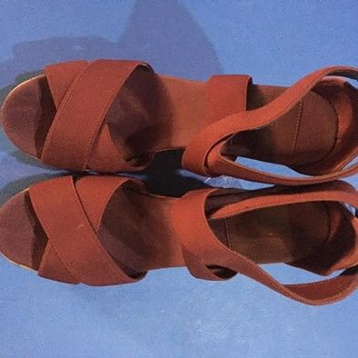 f3a8f592d874a5 Lacoste Juinette Dark Red Wedge Heels (Original)