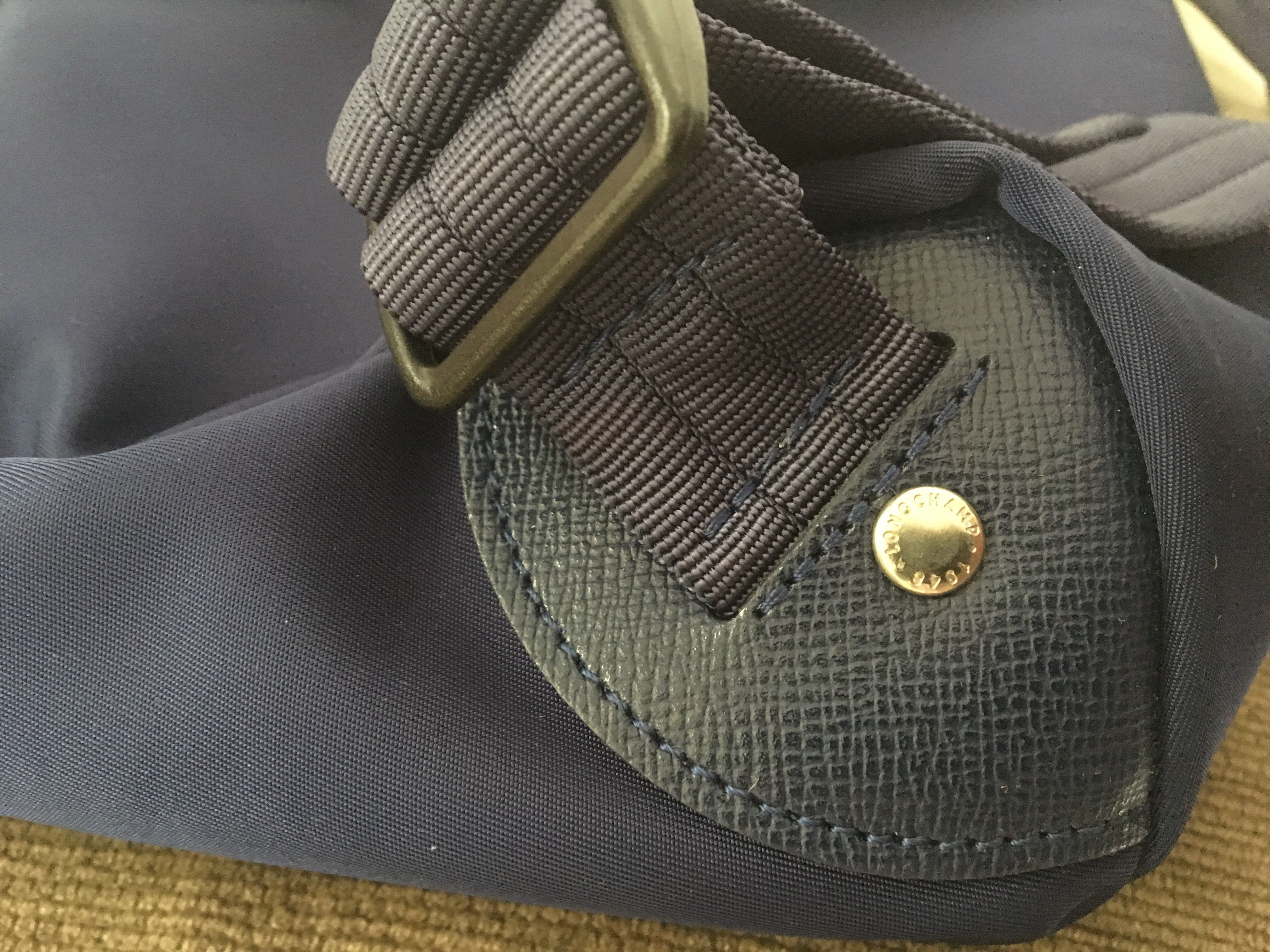 Longchamp Le Pliage Neo Backpack Original Preloved Fesyen Wanita Medium Hitam Tas Dompet Di Carousell