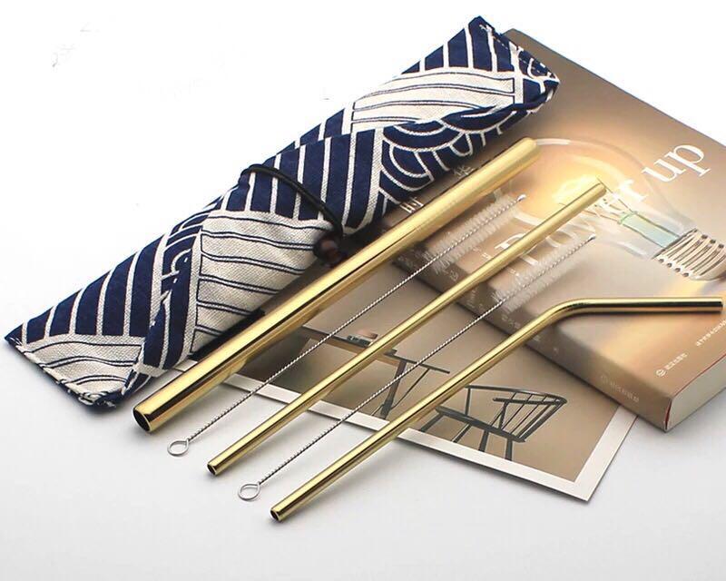 Metal Straws (3 different straws)