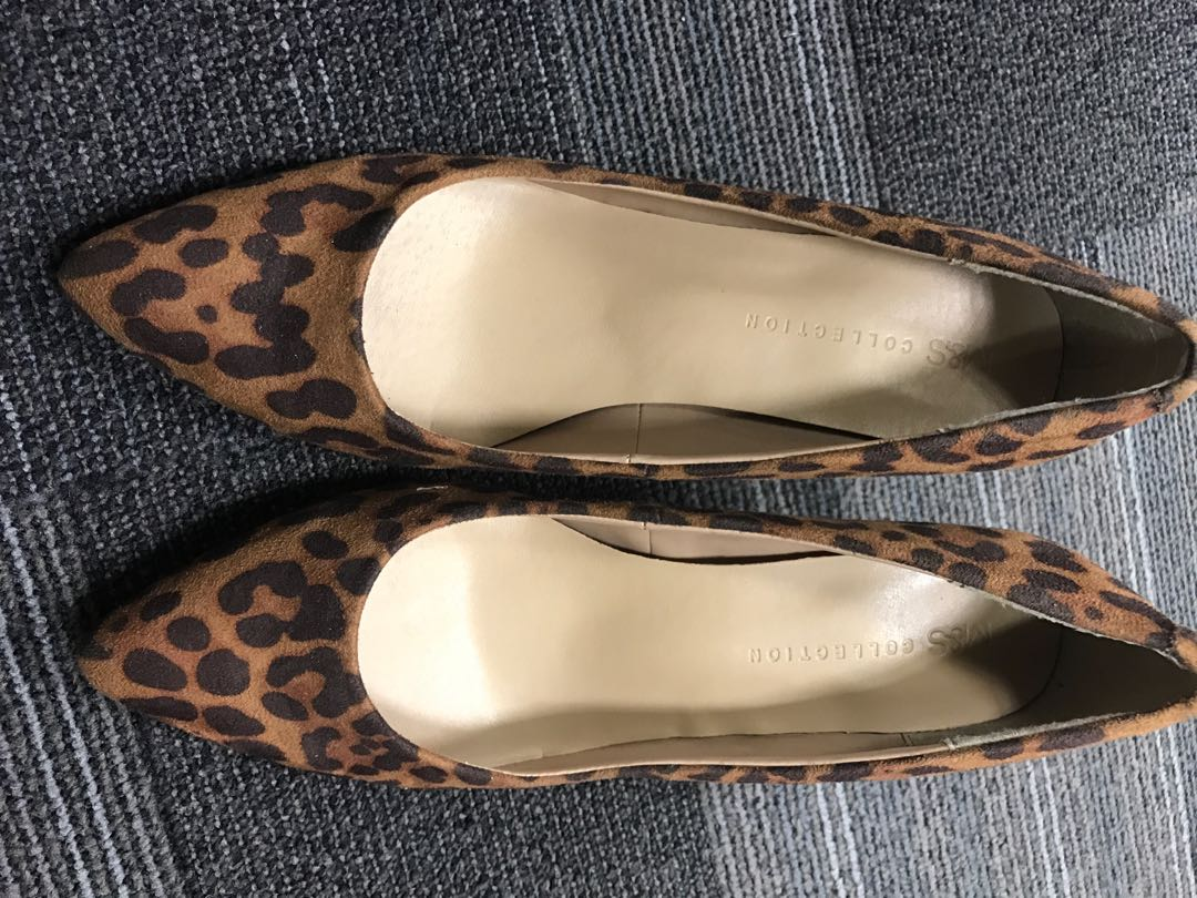 a71561f7876b M&S Marks and Spencer Heels Leopard Print, Women's Fashion, Shoes ...