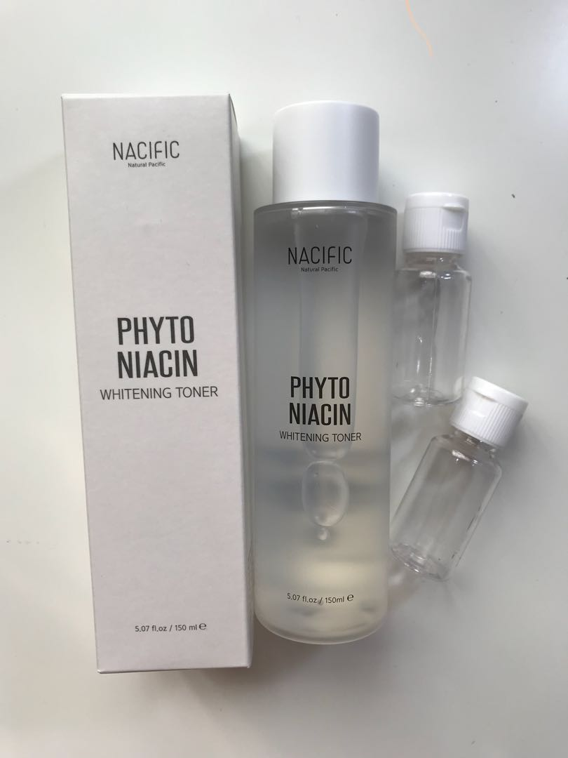 Nacific natural pacific phyto niacin whitening toner share 20ml, Health & Beauty, Skin, Bath, & Body on Carousell