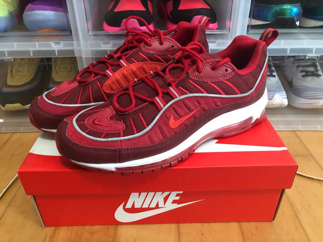 online store 86ef9 fe708 Nike Air Max 98 Triple Team Red US11, Men's Fashion ...