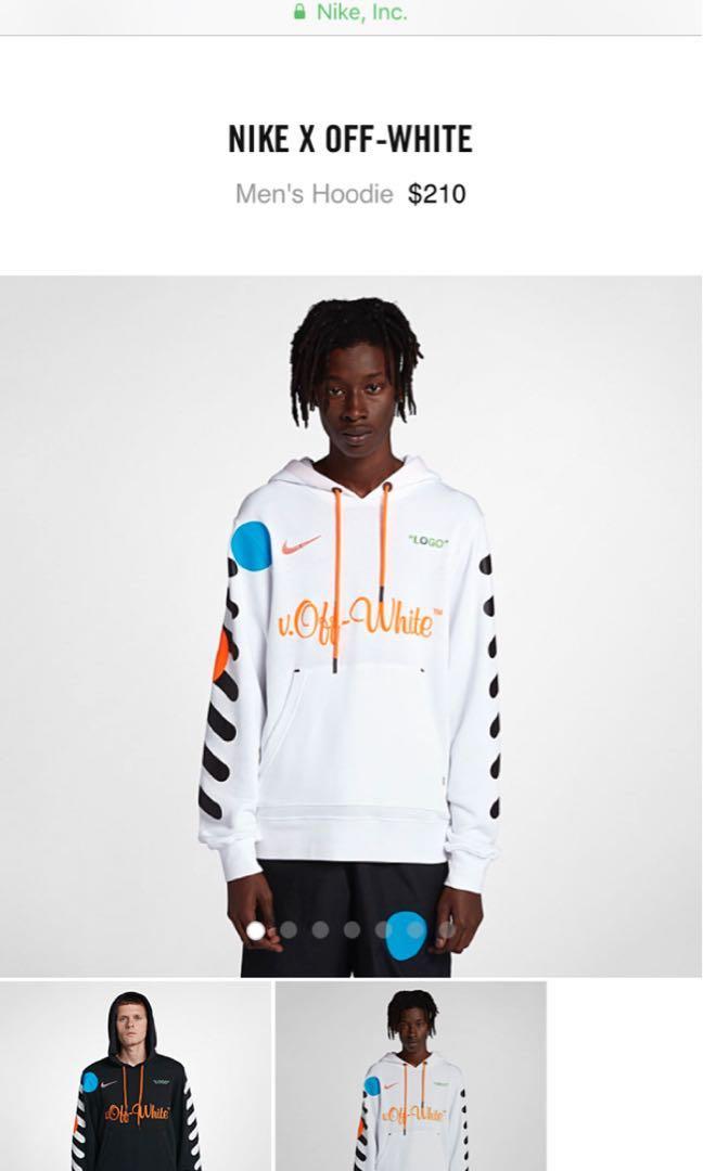 Nike Off White Hoodie Sweatshirt Football Mon Amour d6d1cf73b