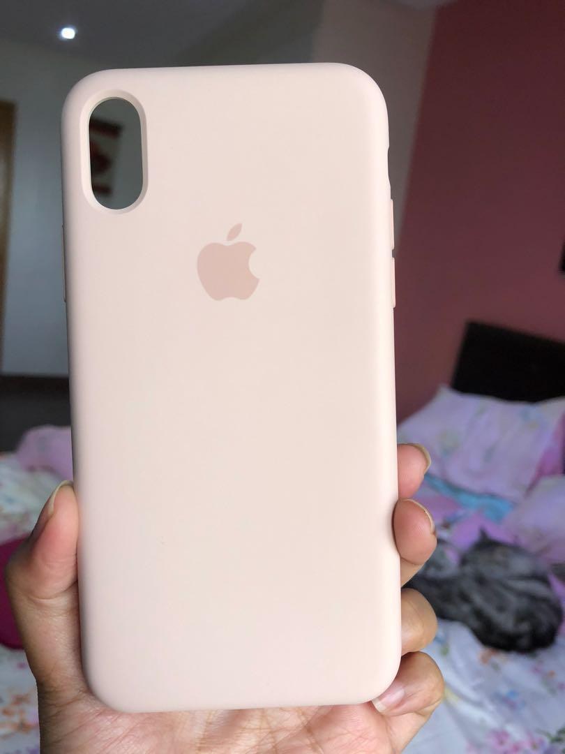 watch 9a711 790c6 Original Apple Silicone Case in Pink Sand for iphone x on Carousell