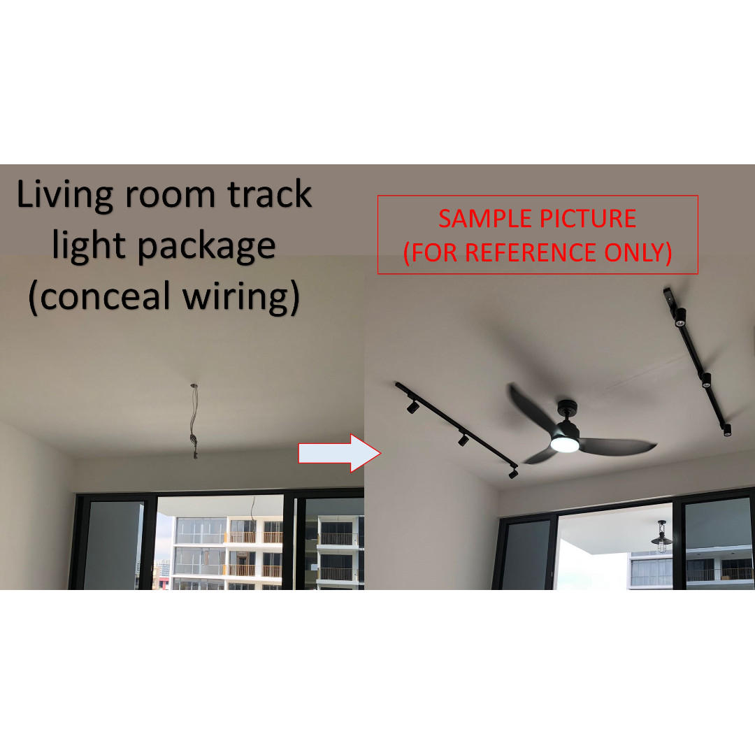Package Deal Living Room Track Light Ceiling Fan