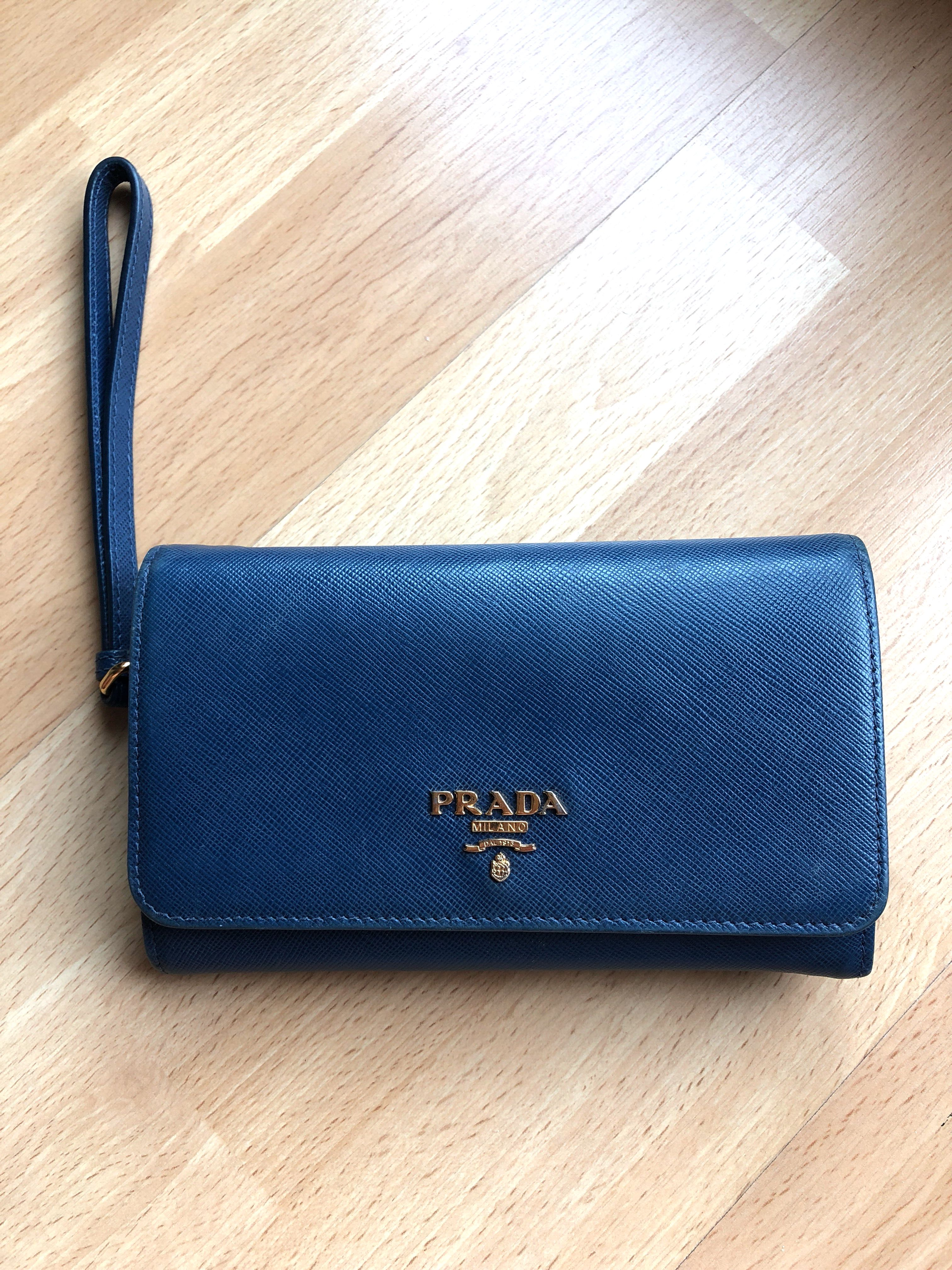 30bcd89cf9c5 Prada Dark Blue Wallet
