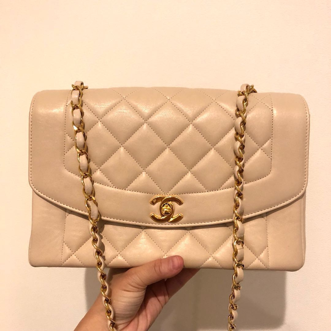 d2e1cc17ae2edc RESERVED Authentic Chanel 10 Inch Diana Flap with BACK POCKET ...