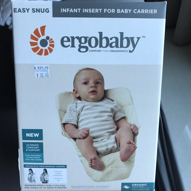 8983bf47265 Sale! Original Ergobaby infant insert Easy Snug