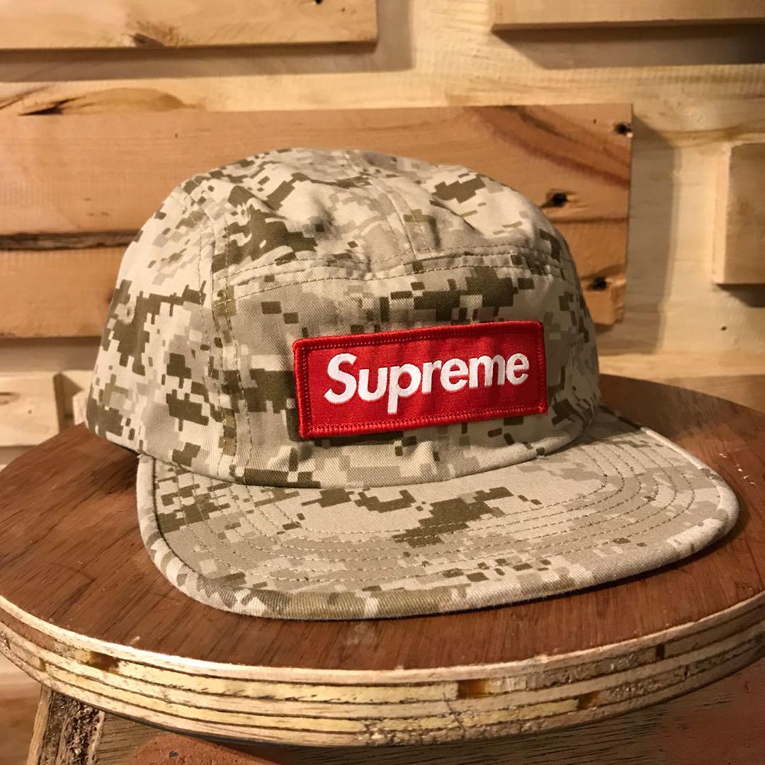 f481b2d1 Supreme NYCO Twill Camp Cap Tan Digi Camo, Men's Fashion ...