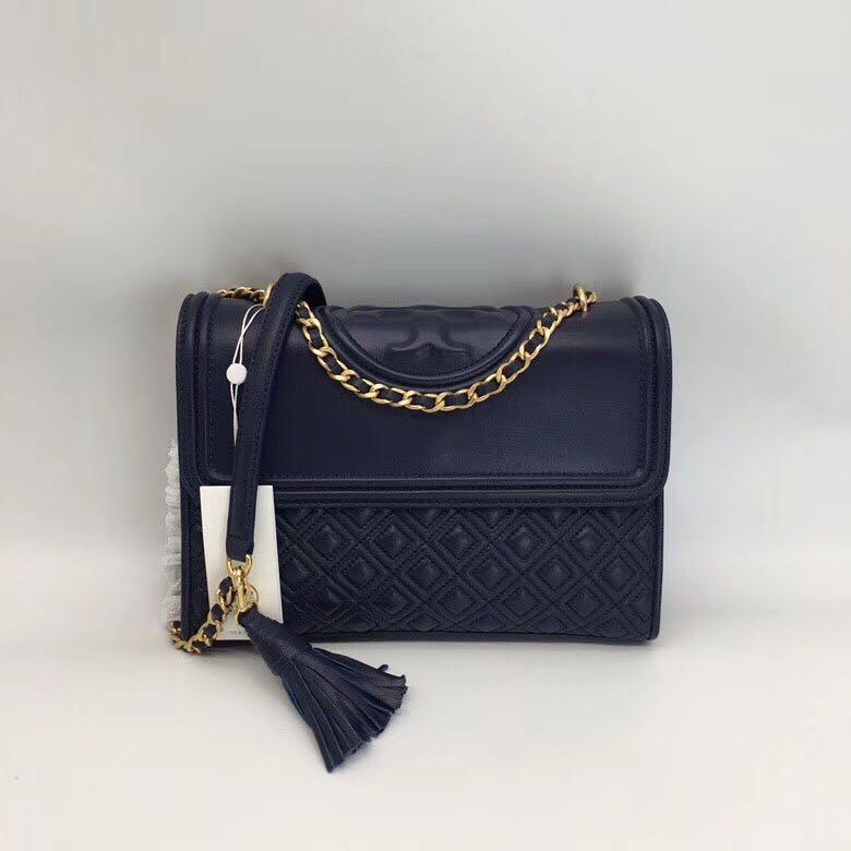 0953d11a4a03 Tory Burch Fleming Convertible Shoulder Bag - navy blue