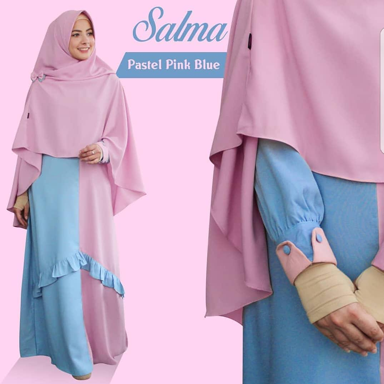 VGC - 0418 - Dress Gamis Busana Muslim Wanita Salma Plus Kerudung