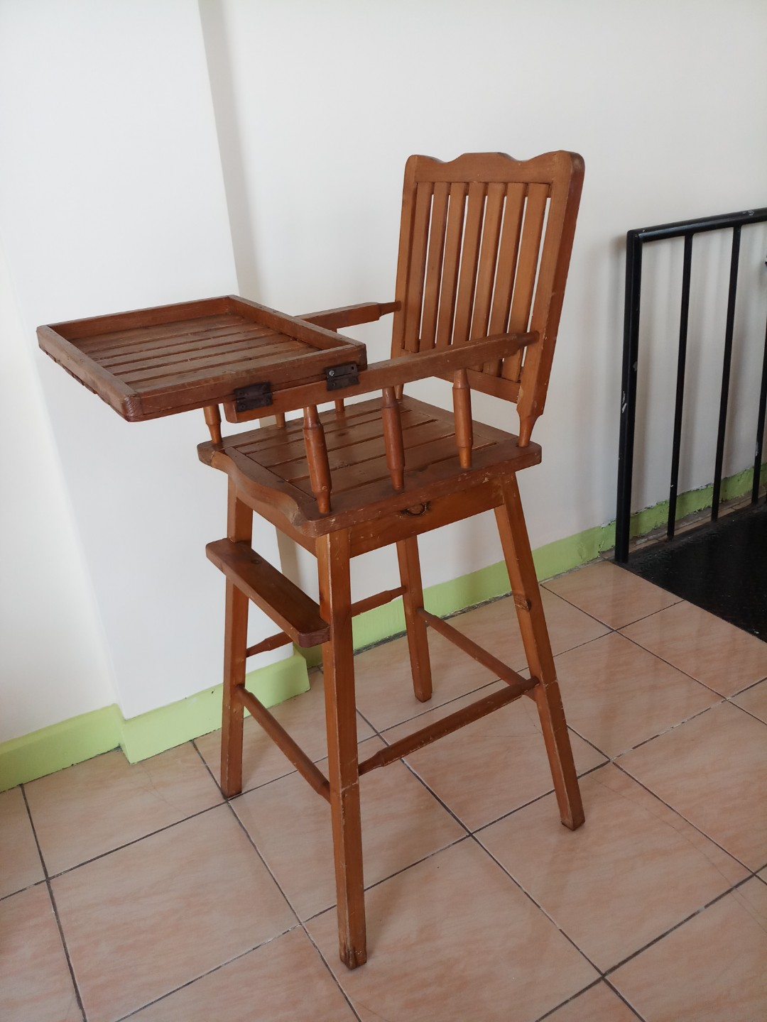 Wooden High Chair Babies Kids Others On Carousell