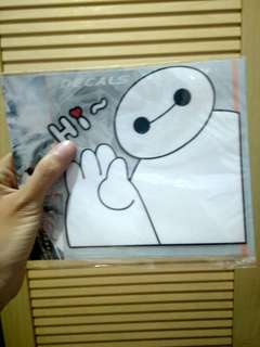 Stiker Mobil Kartun Baymax Car Sticker Cartoon