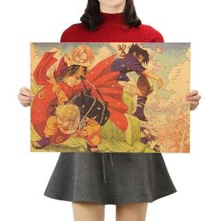 Premium Vintage Style Naruto | Team Seven Pose Poster
