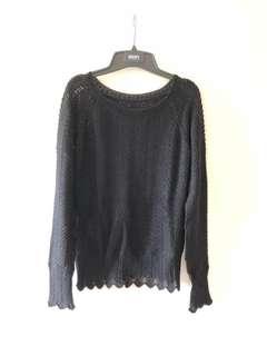 🚚 正品DKNY羊毛黑色長袖毛衣