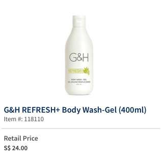 🚚 Amway G&H Refresh + Body Wash Gel (400ml)
