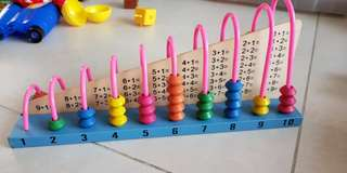 Educational addition and subtraction  wooden set