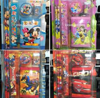 Assorted cartoon wallet stationary packages- ideal goody bag, goodies bag packages