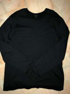 COS Navy double chest pocket Long sleeve t-shirt