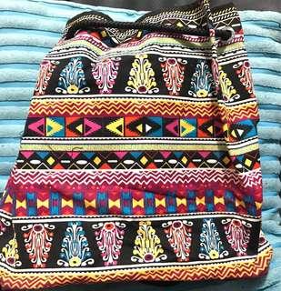 Davao made aztec drawstring bag