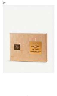 GODIVA Dark chocolate carres box 36 pieces 黑朱古力