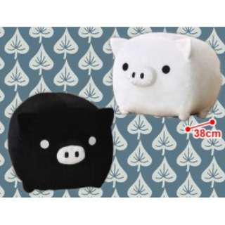 San-x Monokuro Boo Pig Premium Heart Plush. Authentic Japan. 38CM long