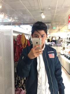 H&M Patched Bomber Jacket (XS to S)