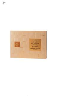 GODIVA Milk chocolate carrés 36 pieces 牛奶朱古力