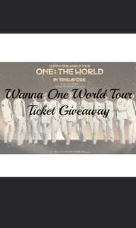 wannaone sg ticket giveaway repost