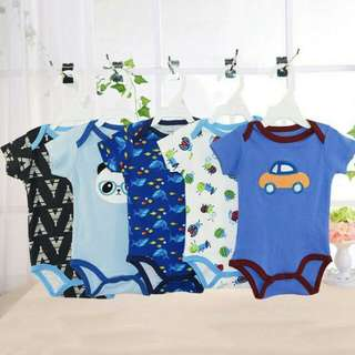3 Pcs Carter Baby Rompers - NEW