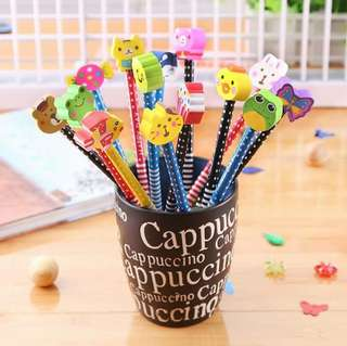 Cute pencil with erasers