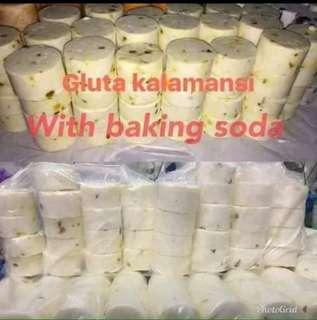 Gluta calamansi with baking soda (soap)