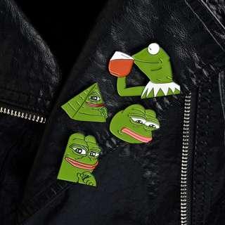 Kermit & Pepe The Frog Enamel Pin