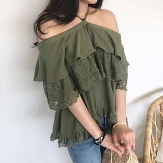 🚚 [BNIS] Off Shoulder Frilly Top