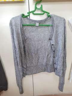 H&M gray cardigan