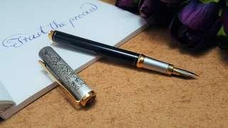 富利文天龍古銀鋼筆