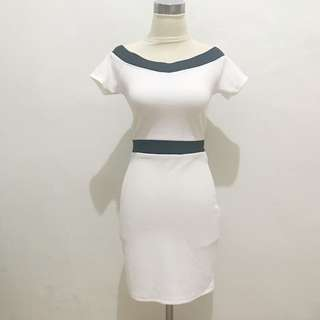 DRESS TERUSAN PUTIH BANGKOK