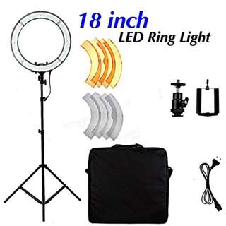 Studio ring light and accessories