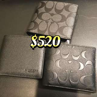 Coach Men's Black Signature Wallet 男裝黑色銀包