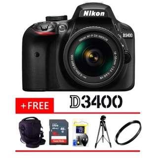 NIKON D3400+ FREE GIFT