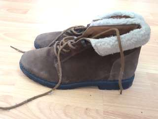Topshop winter boots with fur