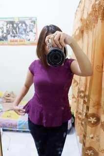 Peplum Purple brand EPRISE