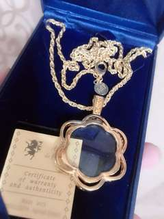Swarovski Crystal Gold Necklace
