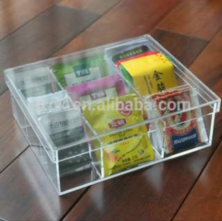 Clear Acrylic Tea Bags Storage